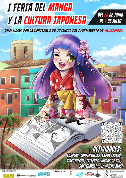 Cartel I Feria manga y cultura japonesa Villajoyosa 2021