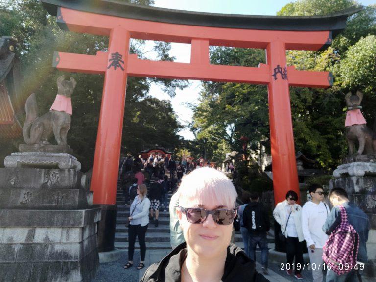 Sara en Fushimi Inari Taisha