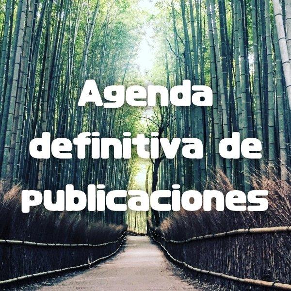 Agenda definitiva de publicaciones