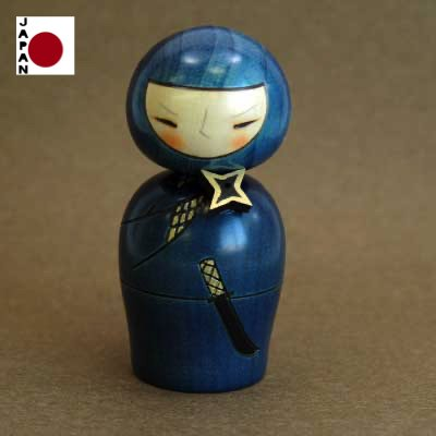 Muñeca Kokeshi Ninja Importada de Japón